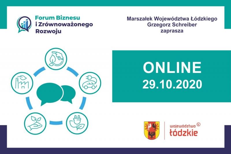 Zapraszamy na Forum Biznesu i Zrównoważonego Rozwoju Łódzkie 2020
