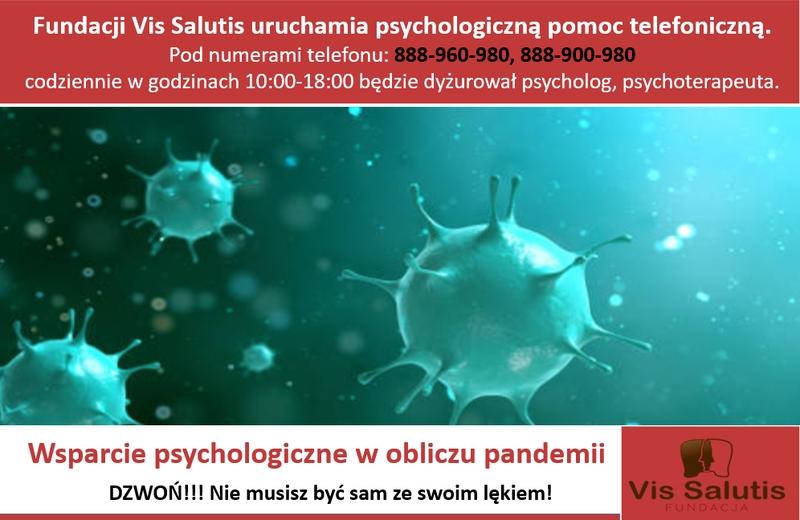 Potrzebujesz porady psychologa w związku z pandemią? Zadzwoń