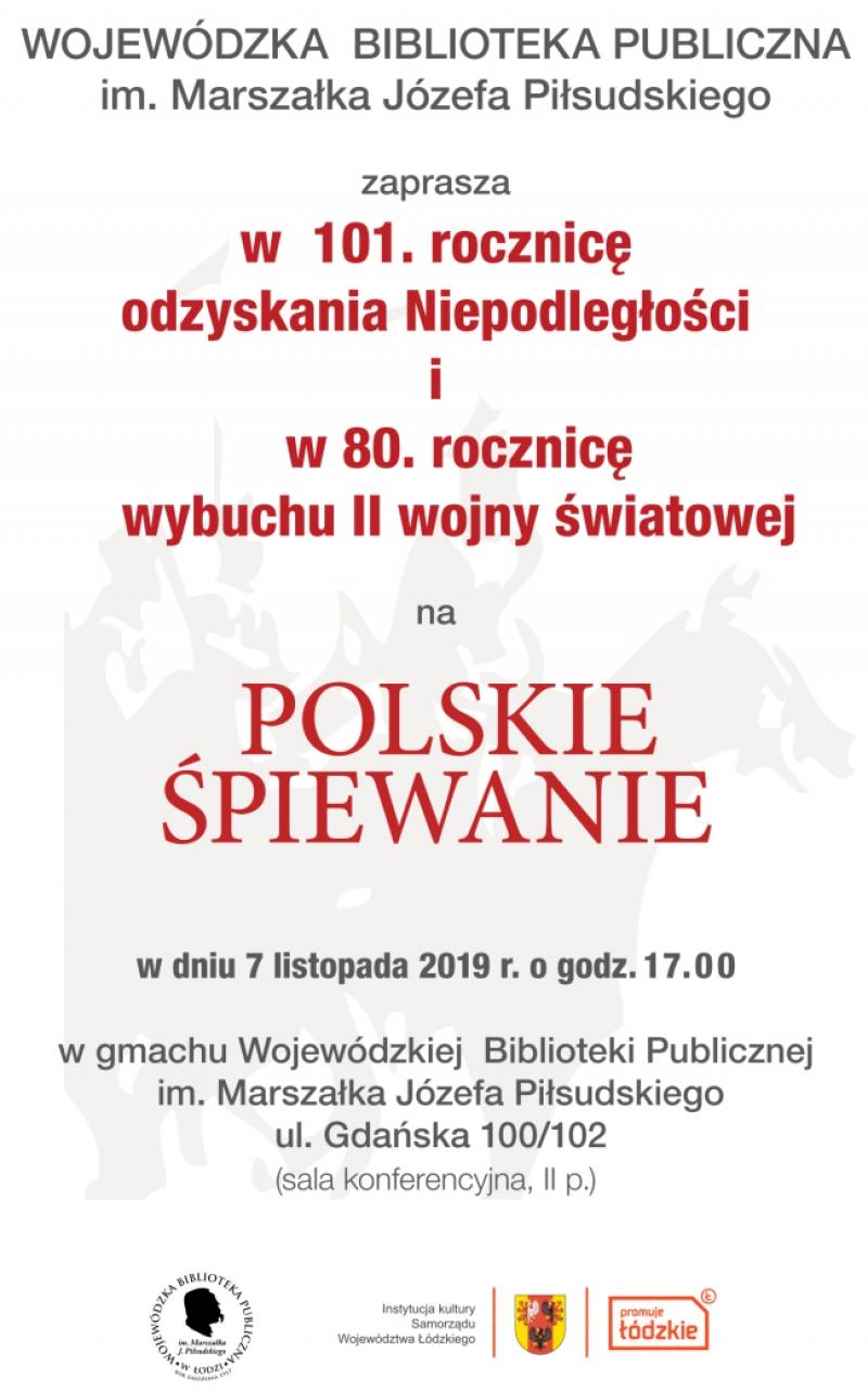"""""""Polskie Śpiewanie"""" w WBP im. Marszałka Józefa Piłsudskiego."""