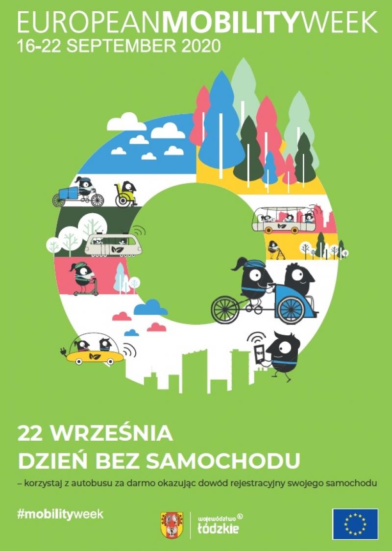 DZIEŃ BEZ SAMOCHODU (22.09.2020 r.) w przewozach autobusowych organizowanych przez Marszałka Województwa Łódzkiego