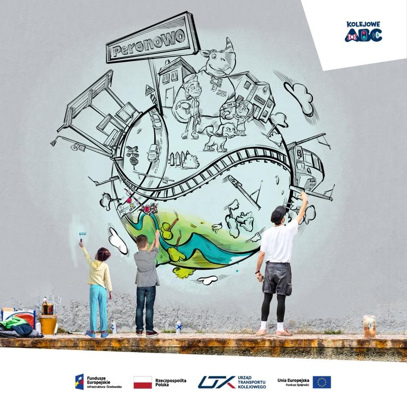 """Akcja Mural – konkurs w ramach """"Kampanii Kolejowe ABC"""""""
