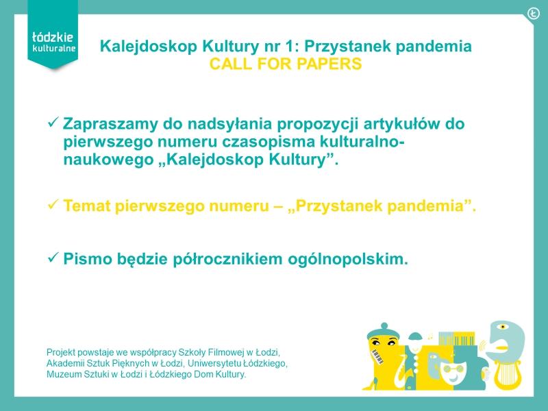 Kalejdoskop Kultury – nowe czasopismo kulturalno-naukowe.