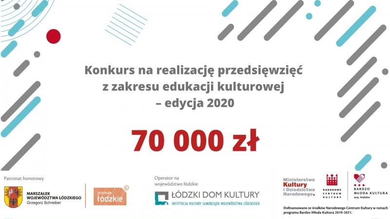 Konkurs na realizację przedsięwzięć z zakresu edukacji kulturowej – edycja 2020.