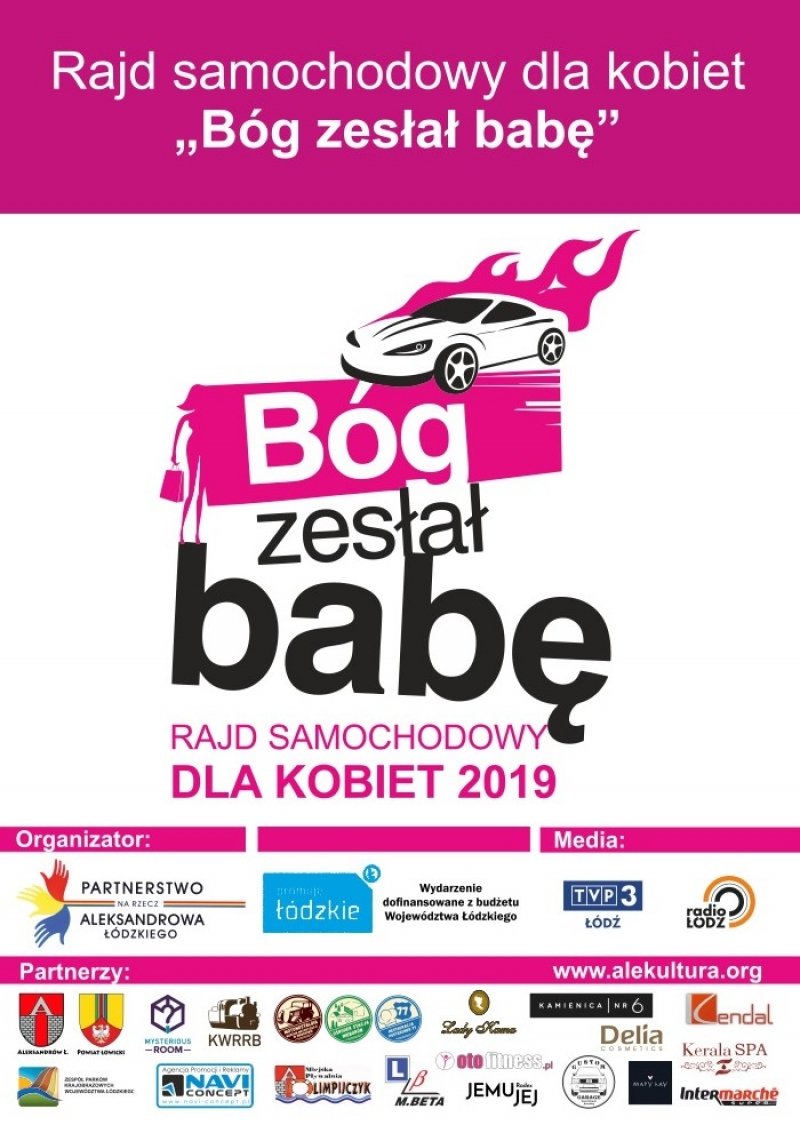 """""""Bóg zesłał babę"""" - rajd samochodowy dla kobiet 2019"""