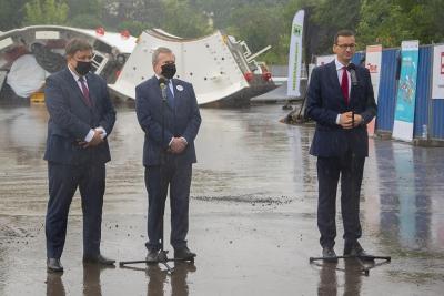 Premier Morawiecki: rząd sfinansuje budowę węzła trasy S14 na Teofilowie